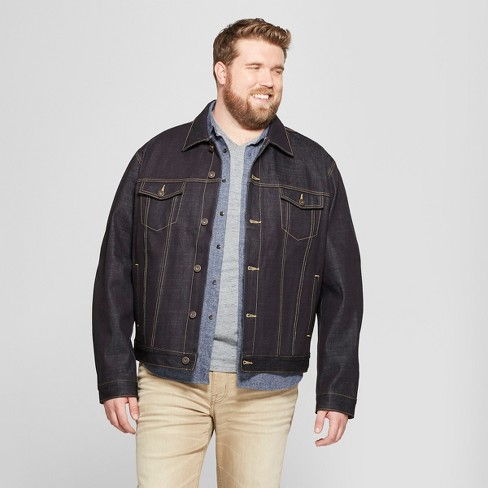 ebd6e12cba6 Men s Big   Tall Selvedge Denim Jacket - Goodfellow   Co™ Alpha Blue ...