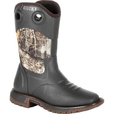 Rocky Kid's Original Ride FLX Camo Rubber Western Boot