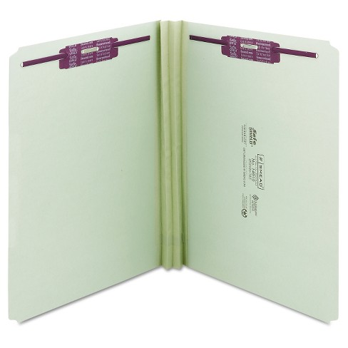 Smead® Two Inch Expansion Fastener Folder, Straight Tab, Letter, Gray Green, 25/Box - image 1 of 6
