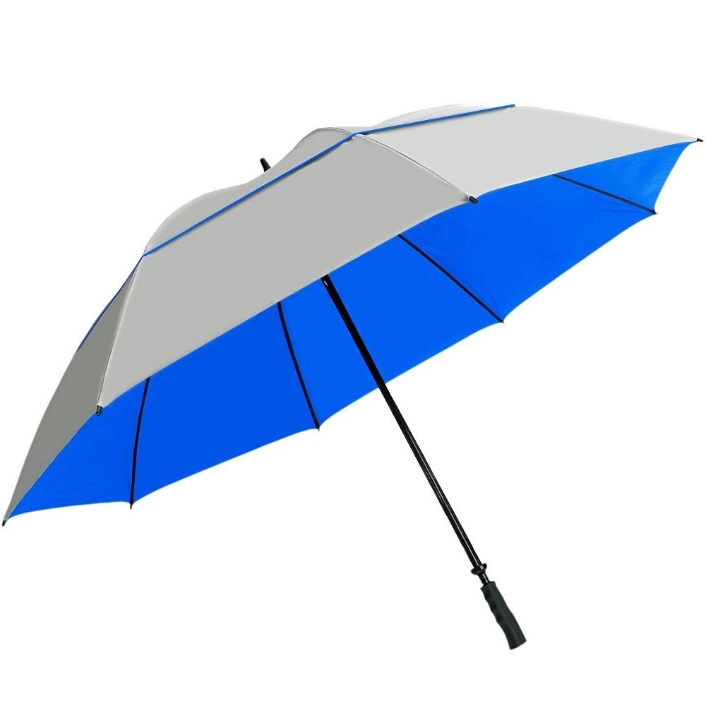 SunTek 68 Golf Umbrella - Silver/Blue