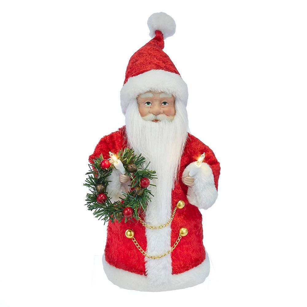 """Image of """"10"""""""" Kurt Adler 10 Light Santa Tree Topper"""""""