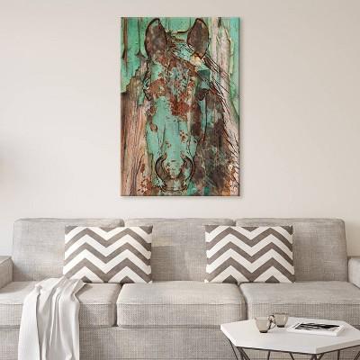 40 x26  Green Horse by Irena Orlov Unframed Wall Canvas Print Green - iCanvas