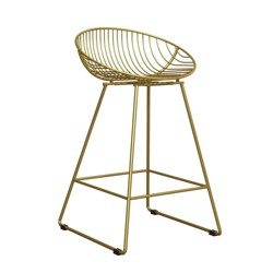 Ellis Wire Counter Stool Gold - CosmoLiving by Cosmopolitan