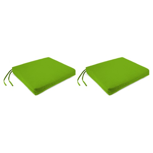 Outdoor Set Of 2 French Edge Seat Cushions In Davinci Willow  - Jordan Manufacturing - image 1 of 1