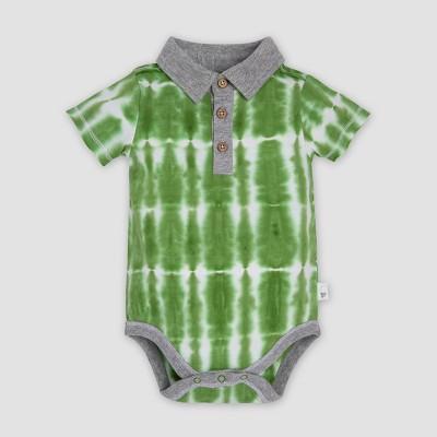 Burt's Bees Baby® Baby Boys' Organic Cotton Tie Dye Polo Bodysuit - Palm Tree 3-6M