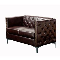 Fantastic Marsala Top Grain Leather Loveseat Brown Abbyson Living Uwap Interior Chair Design Uwaporg