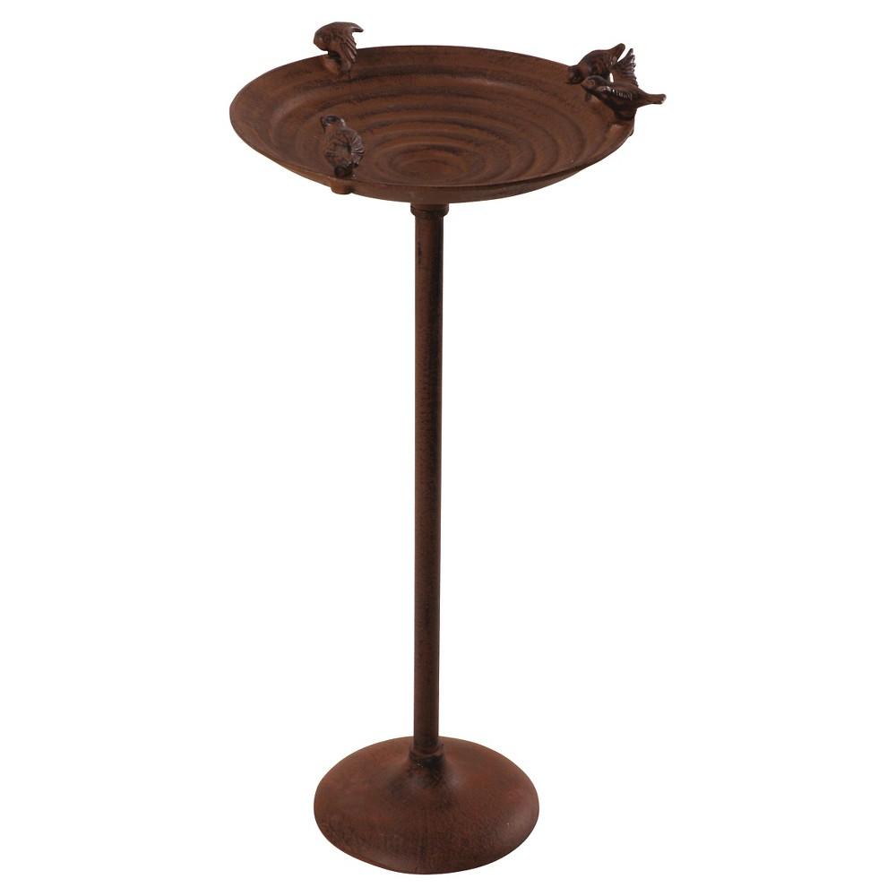 "Image of ""24"""" Bird Bath Cast Iron - Brown - Esschert Design"""