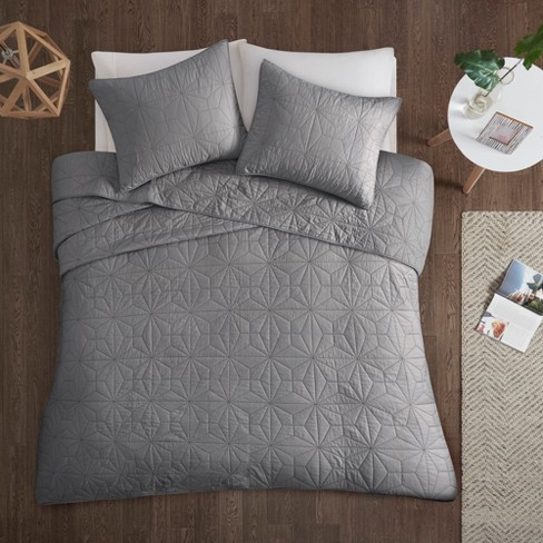 Gray Harper Cotton Coverlet  Set 3pc - image 1 of 5