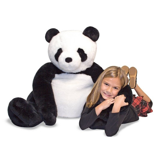 Melissa & Doug Giant Panda Bear - Lifelike Stuffed Animal (over 2 feet tall) image number null