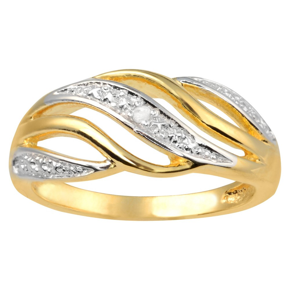 1/10 CT. T.W. Round-Cut Diamond Pave Set Elegant Ring in Sterling Silver (J-K-I1-I2) - Gold (9), Girl's