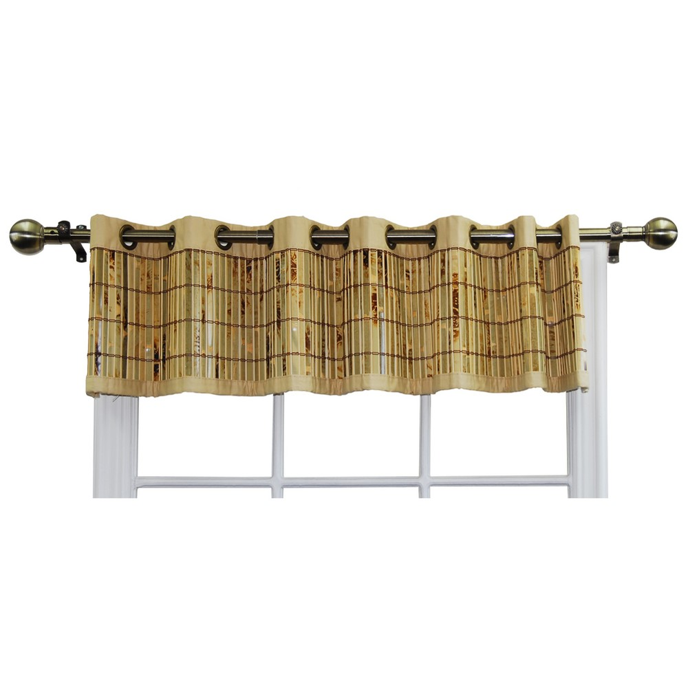 "Image of ""12""""x72"""" Window Valance Bamboo Grommet Tan - Versailles Home Fashions"""