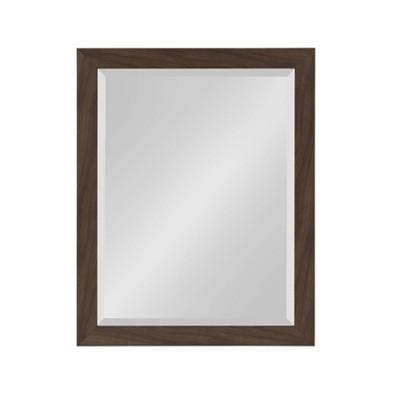 "21"" x 27"" Beatrice Framed Wall Mirror Walnut Brown - DesignOvation"