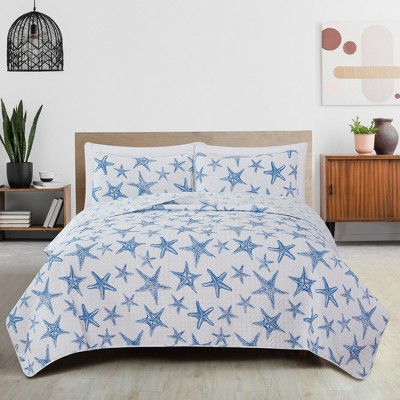 Great Bay Home Trinidad Coastal Reversible Quilt Set