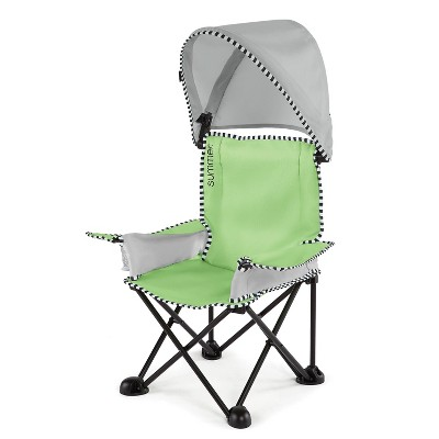 Summer Infant Pop 'n Sit Sweet Life Edition Big Kid Chair with Canopy - Indoor/Outdoor Chair - Green Apple