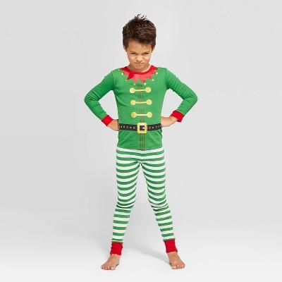 Kids' Holiday Elf Pajama Set - Wondershop™ Green 8