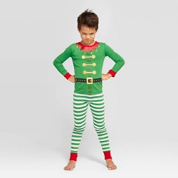 Kids' Holiday Elf Pajama Set - Wondershop™ Green
