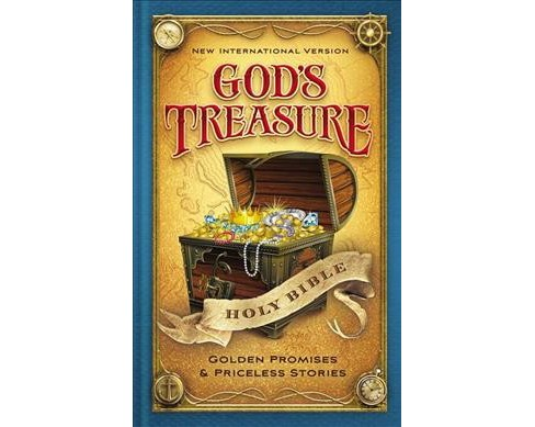 God's Treasure Holy Bible : New International Version: Golden Promises & Priceless Stories (Hardcover) - image 1 of 1