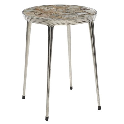 Aluminum Stone Patio Accent Table - Olivia & May