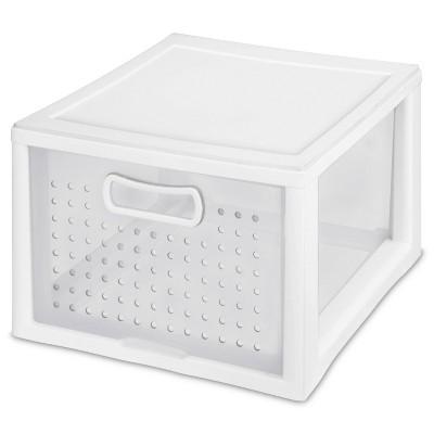 Sterilite Small Deep Modular Drawer White