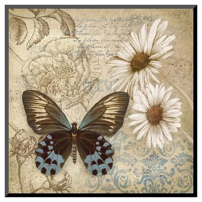 Art.com - Butterfly Garden I by Conrad Knutsen - Mounted Print