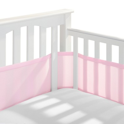 Breathable Baby Solid Mesh Crib Liner - Pink