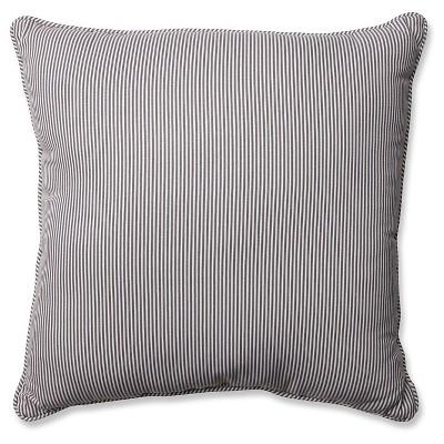 Pillow Perfect Oxford Throw Pillow - Gray (18 )