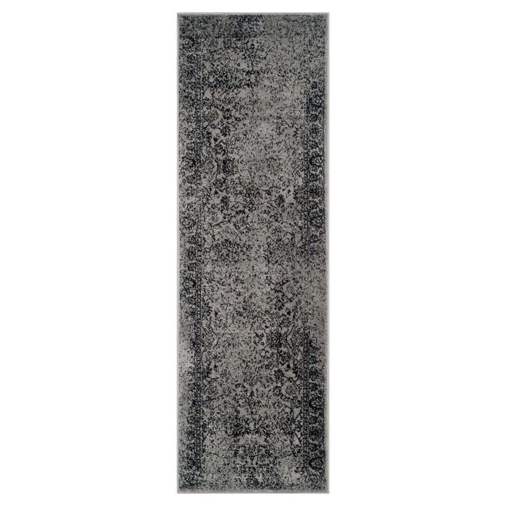 Reid Runner - Gray/Black (2'6x20') - Safavieh