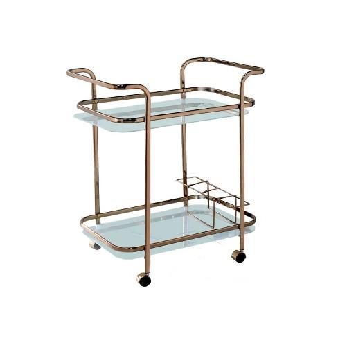 ioHomes Elleria Rectangular Metal Serving Cart Metal/Champagne - image 1 of 3
