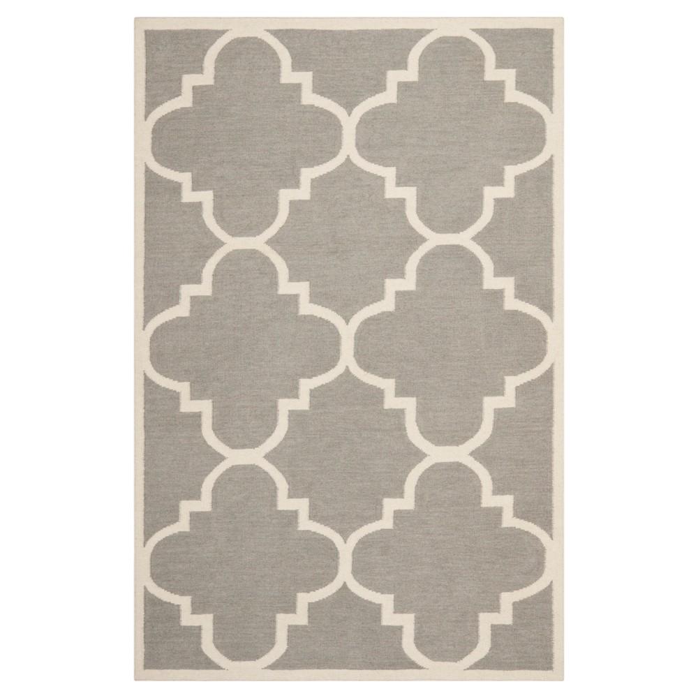 Discounts Mazagan Dhurry Rug - Gray Ivory - (4x6) - Safavieh