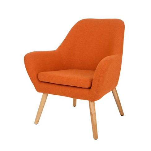 MidCentury Modern Oversized Accent Chair Orange - Glitzhome - image 1 of 9