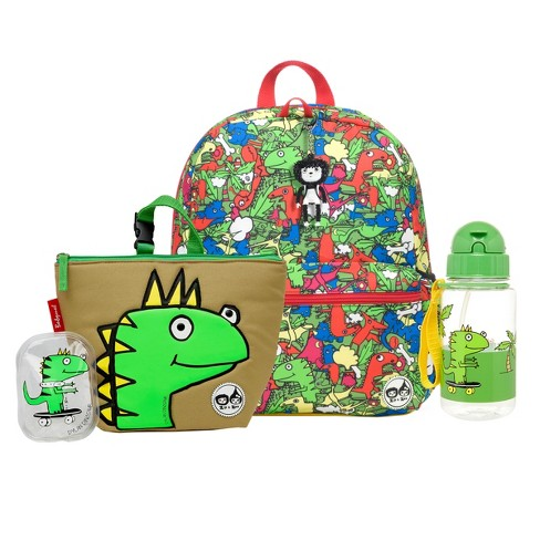 """Zip & Zoe Junior 15"""" Kids' Backpack with Lunch Bag and Water Bottle - Dylan Dino - image 1 of 4"""