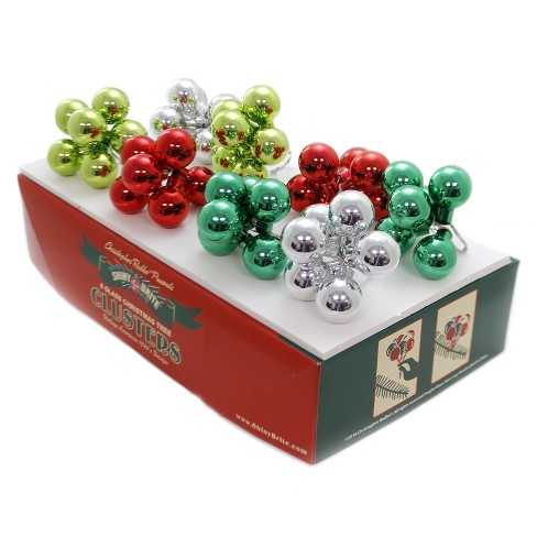 """Shiny Brite 1.75"""" Hs Clusters Ornaments Holiday Splendor St/8 Christmas  -  Tree Ornaments - image 1 of 3"""