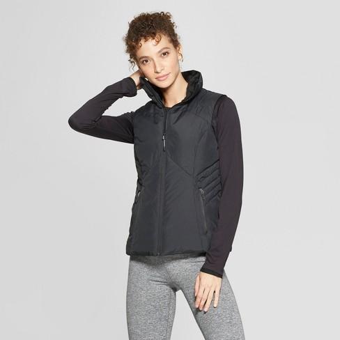 Women's Puffer Vest - C9 Champion® Black M - image 1 of 2