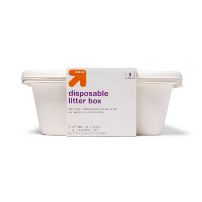 Biodegradable and Disposable Cat Litter Pan - 2pk - up & up™
