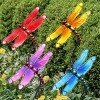 """4pk 26"""" Resin/Glass Dragonfly Garden Stakes - Exhart - image 2 of 2"""