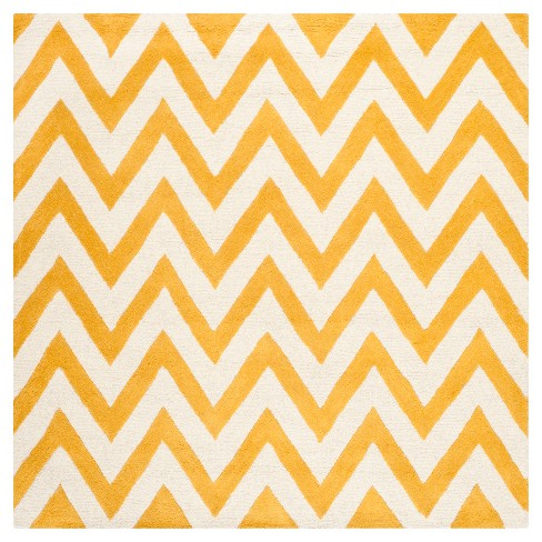 Dalton Textured Area Rug - Gold/Ivory (6'x6' Square) - Safavieh® - image 1 of 2