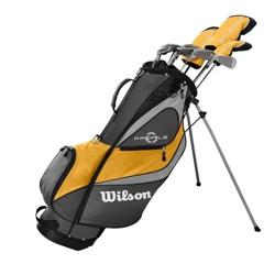 Wilson Profile XD Men's LH Flex Graphite Steel Golf Club Stand Bag Set, Gold