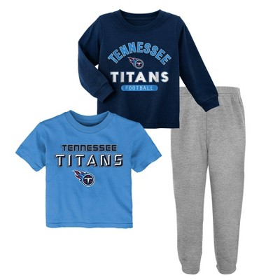 ab376578 NFL Tennessee Titans Toddler Boys' Gametime Fun Shirt & Pants Set 3pk