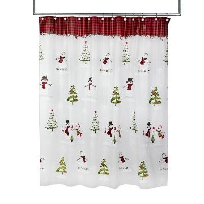 Woodland Winter Shower Curtain Red - SKL Home