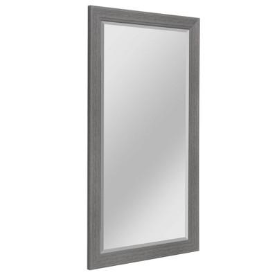 "29.5"" x 53.5"" Textured Wood Grain Mirror Gray - Head West"