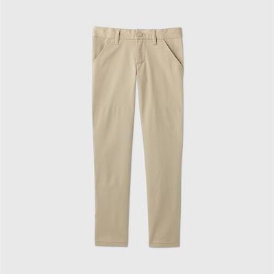 Girls' Flat Front Stretch Uniform Skinny Pants - Cat & Jack™ Beige