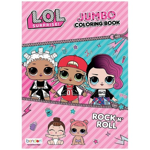 L O L Surprise Jumbo Rock N Roll Coloring And Activity Book Target