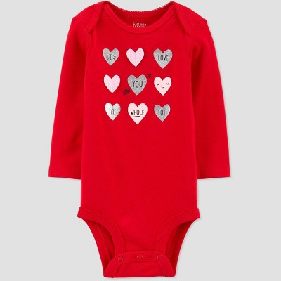 Baby Girls' Heart Bodysuit - Just One You® made by carter's Red 3M
