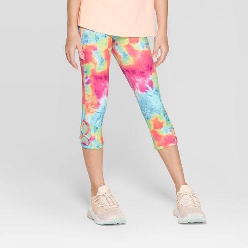 654366f99d0958 Girls' Lattice Capri Leggings - C9 Champion® Blue/Pink XL : Target
