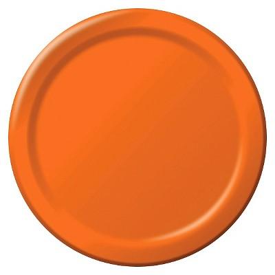 """Sunkissed Orange 9"""" Paper Plates - 24ct"""