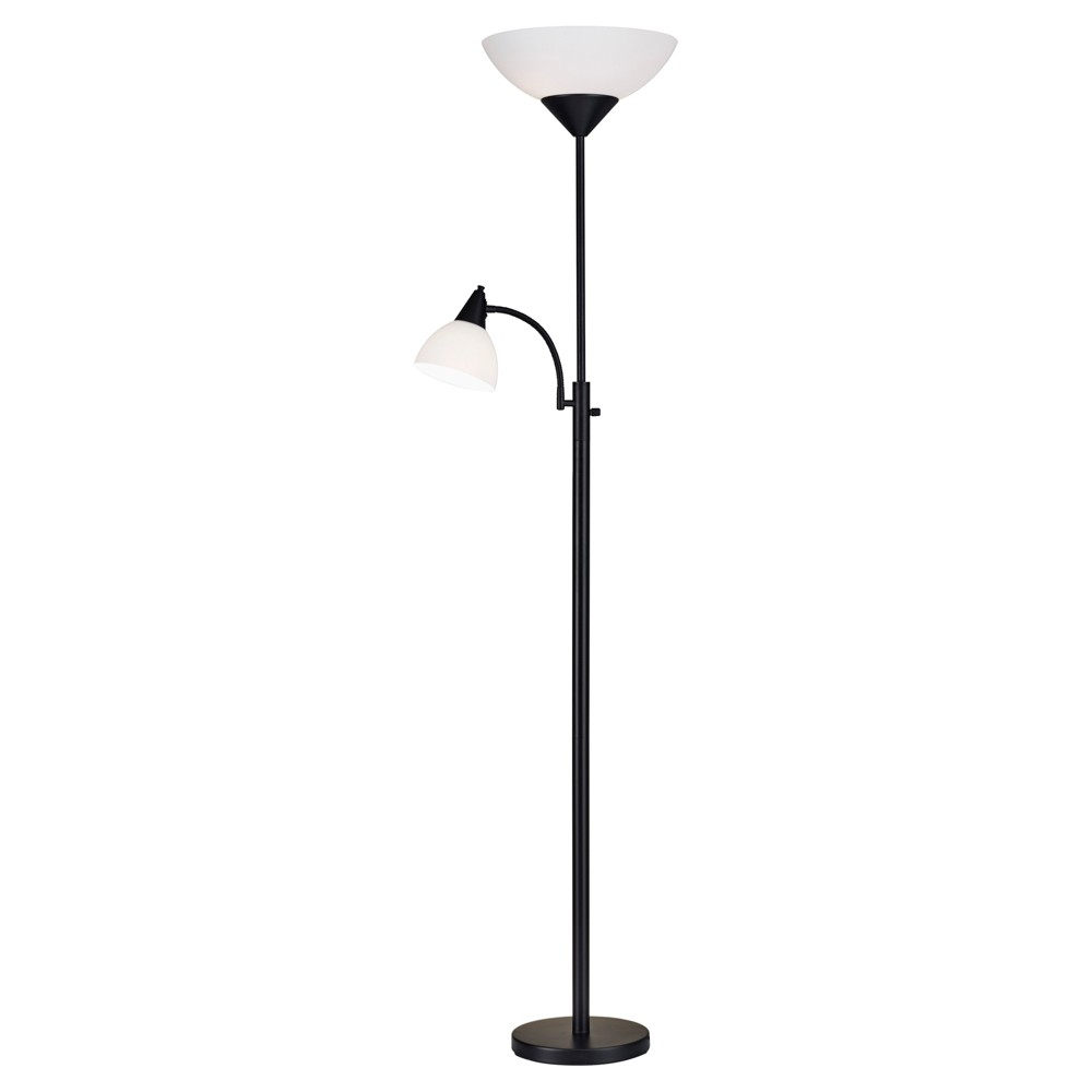 Image of Adesso Piedmont Combo Floor Lamp (Lamp Only) - Black