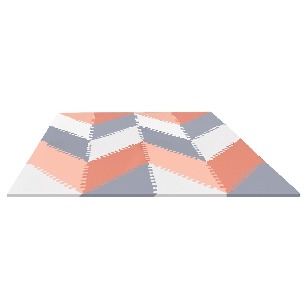 Image of Skip Hop Activity Playmat - Gray/Peach
