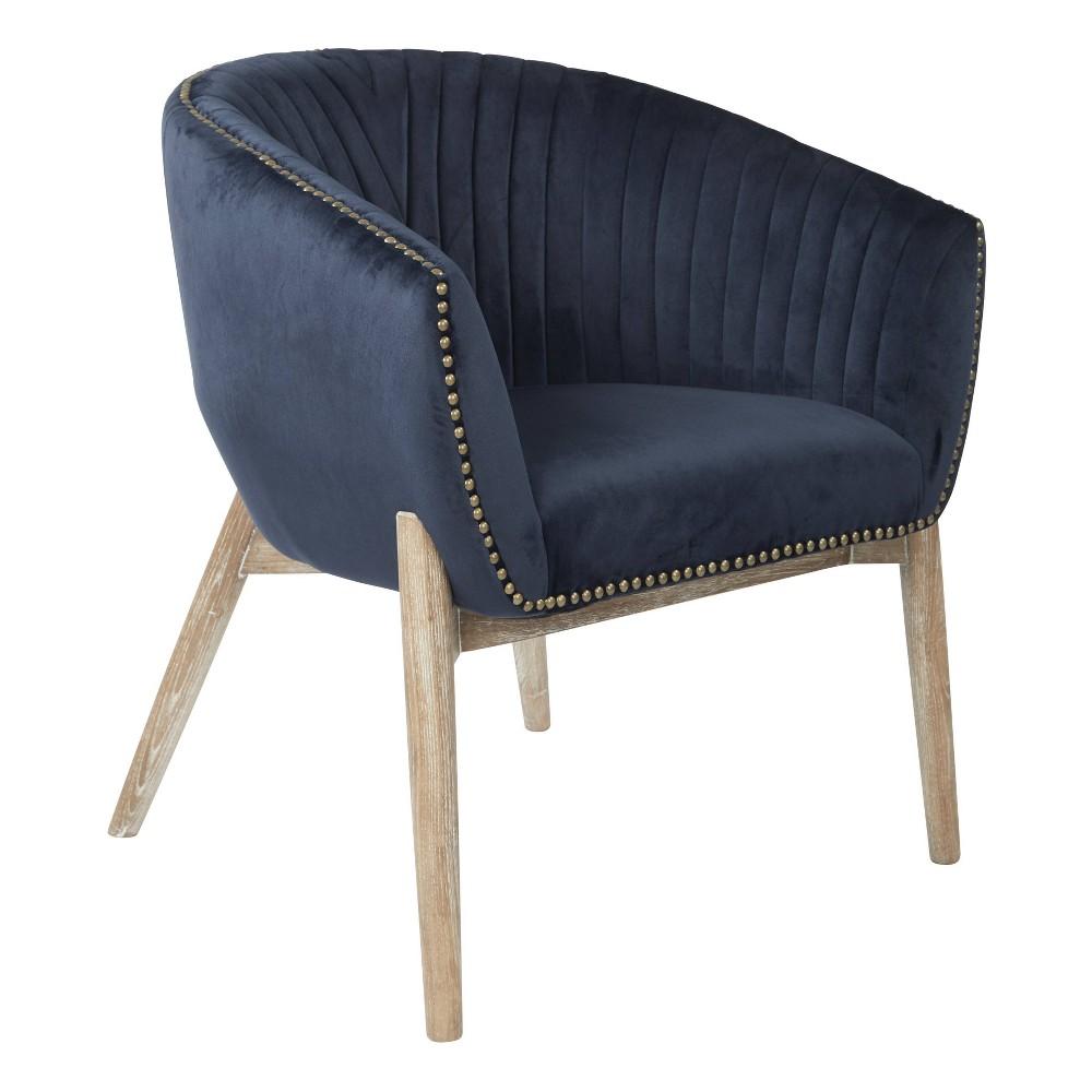 Surprising Girona Accent Chair Midnight Blue Osp Home Furnishings Customarchery Wood Chair Design Ideas Customarcherynet
