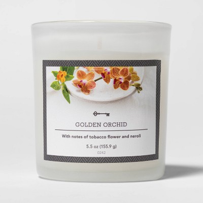 5.5oz Glass Jar Golden Orchid Candle - Threshold™
