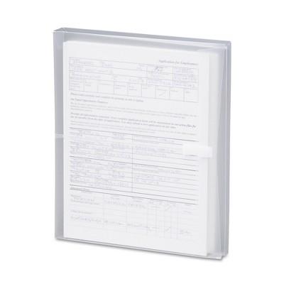 SMead Side-Load Envelopes, 1 1/4 Inch Expansion, Jacket, Letter, Poly, Clear, 5/Pack